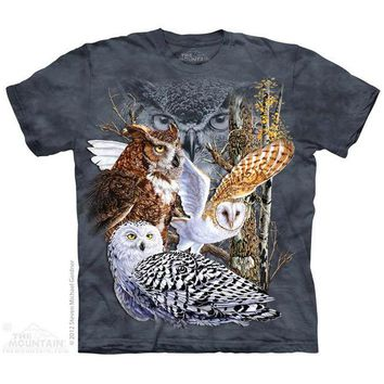 New FIND 11 OWLS YOUTH CHILD  T SHIRT -