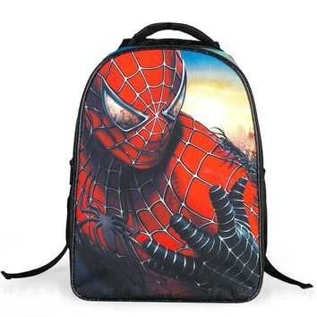 Kids Bag Boys Spider Man Backpack Kindergarten Book Bag Spiderman School Bag Casual Children Cartoon Schoolbag Travel Bag