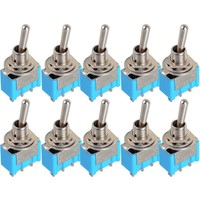 10pc/LOT  Blue Mini MTS-102 3-Pin SPDT ON-ON 6A 125VAC Miniature Toggle Switches VE067 P50