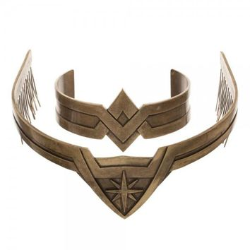 Wonder Woman Tiara & Cuff Set Movie Version