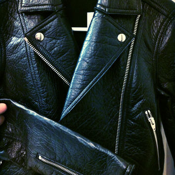 T By Alexander Wang Leather Lambskin Moto Jacket