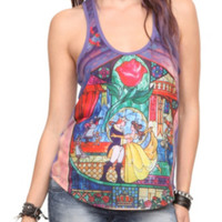 Disney Beauty And The Beast Glass Girls Tank Top