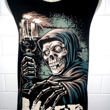 Misfits Skull Rock Band Music Metal T Shirt Tank Top Singlet Vest Sleevless One Size Fits All