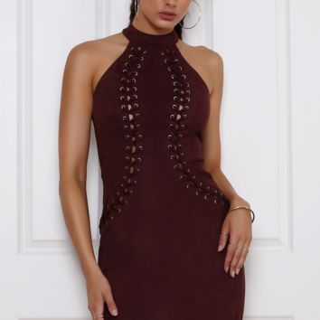 REVEAL DRESS - SANGRIA