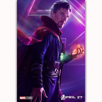 MQ3549 Avengers Infinity War Doctor Strange Movie Characters Film Art Poster Silk Canvas Home Decoration Wall Picture Printings