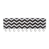 Black and White Chevron Striped Hanging Key Holder | Icing