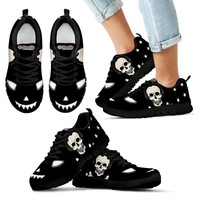 Halloween Themed Print Black Shoes For Kids- Free Shipping