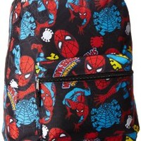 Marvel Big Boys' Spiderman Printed Backpack, Blue, One Size:Amazon:Clothing