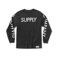 Supply Long Sleeve Tee in Black