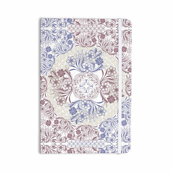 "Famenxt ""Floral Dense Garden"" Blue Brown Illustration Everything Notebook"
