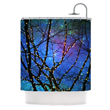 "Sylvia Cook ""Holiday Lights"" Christmas Shower Curtain"