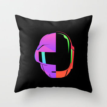 Daft Punk iOS 7 Throw Pillow by Social Creativity