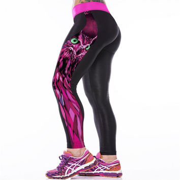 High Quality Sexy Girl Women Alice in Wonderland Cheshire cat 3D Prints High Waist Workout Fitness Leggings Patchwork Pants K079