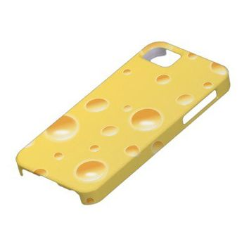 Yellow Swiss Cheese Slice Texture iphone 5 case from Zazzle.com