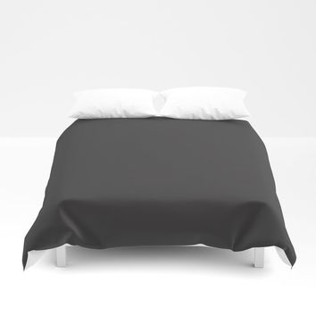 Midnight Black Duvet Cover by spaceandlines