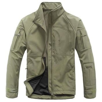 Men's Stylish Waterproof Fleece Lined Utility Jacket