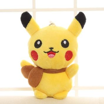 New Pikachu Plush Toy , 13CM Approx. Yellow Cat Plush Stuffed TOY DOLL ; Sucker Pendant Gift TOY BAG Wedding Bouquet Gift DOLL