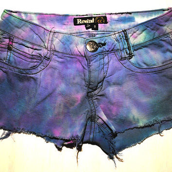 TIe Dye Indie Hipster Shorts XS