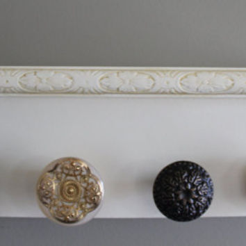 Decorative wall shelf, bronze and gold tone accent wall decor