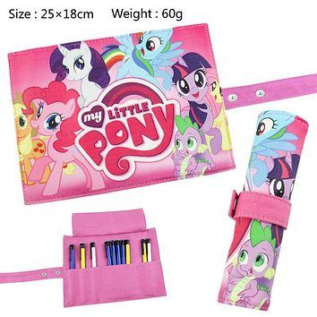 Anime My Little Pony Students Canvas Stationery Children Convenient Storage bag Sora Twilight Sparkle/Rainbow Dash etc