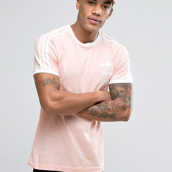 adidas Originals California T-Shirt In Pink BQ5371 at asos.com