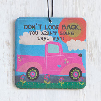 Truck Don't Look Back Set of 3 Air Freshener - Ocean