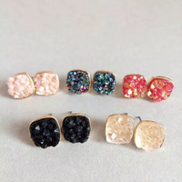 FREE SHIPPING Druzy earrings