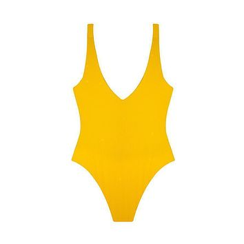 MAYLANA Kim Golden Ribbed One Piece