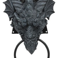 Ebros Ancient Horned Dragon Head Door Knocker Myths And Legends Dungeons And Dragons Home Decor Figurine