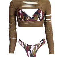 Military Style Beach Outfit 3 pieces