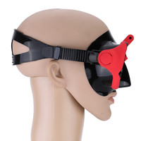 Red Snorkelling Scuba Diving Mask Goggles Swimming Face Mask with Bracket Mount for GoPro Cameras
