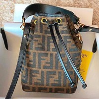 Fendi New fashion more letter canvas shoulder bag crossbody bag bucket bag handbag