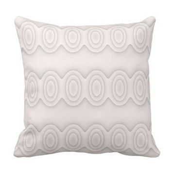 Modern Circles Throw Pillow