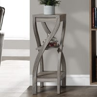 "Dark Taupe Reclaimed-Look 32""H Plant Stand"
