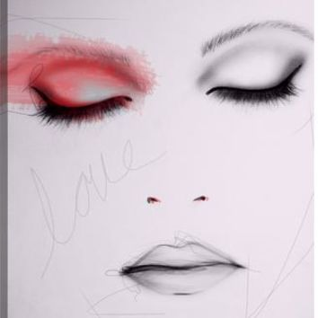 Scarlet Figurative Canvas Wall Art Print by Leigh Viner