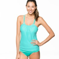 Between Lines Shirr Tankini And Banded Retro Bottom