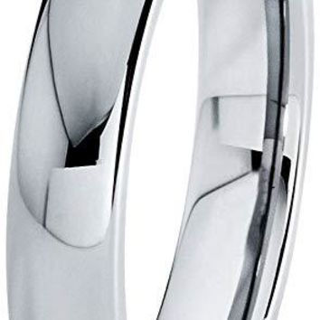 Gabby Tungsten Wedding Band Ring for Women Domed Round Polished Comfort Fit - 4mm