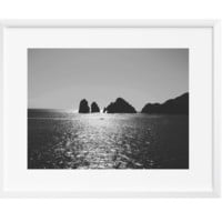 Vast Ocean Wall Art, Art Print, Black and White, Contemporary Modern, 12x16