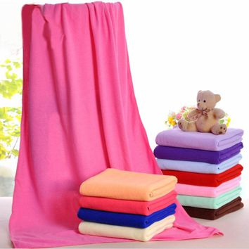 70x140cm Microfiber Superfine fiber Absorbent Home Textile Drying Bath Beach Towels Washcloth Swimwear Shower