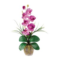 SheilaShrubs.com: Mauve Single Stem Phalaenopsis Silk Orchid Arrangement 1016-MA by Nearly Natural : Artificial Flowers & Plants