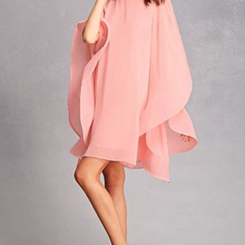 Angel-Sleeve Oversized Dress