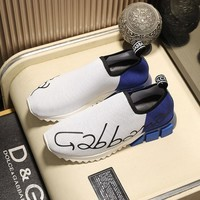 Dolce&Gabbana Stretch Mesh Sorrento White Blue Sneakers - Best Deal Online