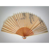 Silk Hand Fans, Japanese Silk Fan, Silk Folding Fan, Hand Carved Bamboo Fan, Made in Japan, Asian Wall Fan, Decorative Fan