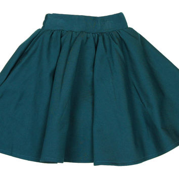 Teela Teal Ponte Circle Skirt