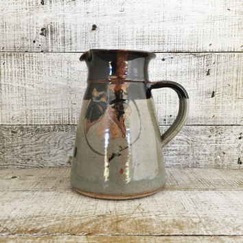 Pitcher Pottery Pitcher Handmade Pottery Vase Pottery Flower Vase Farmhouse Chic Pottery Water Pitcher Ceramic Pitcher Studio Pottery