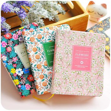 2017~2018 Hot Journal Traveler' Notebook Personal Planner Organizer Paper Diary A5 A6 Binding Flower-printed Agenda Student Gift