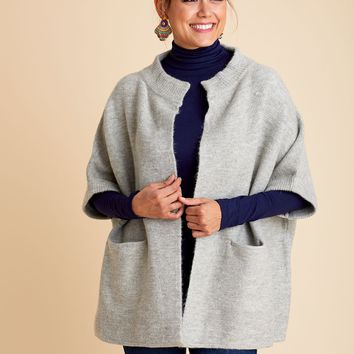 High Neck Collared Cocoon Cardigan