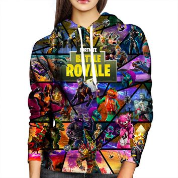 Fortnite Face Womens Hoodie