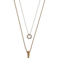Coldest Peak Industrial Layering Necklace - Silver/Gold