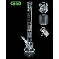 Grace Glass - Double Dome Perc Beaker Base 7mm Glass Tube